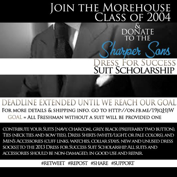 "Help a Morehouse Freshman in Need: ""Sharper Sons"" Suit Drive"