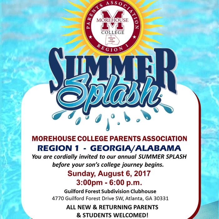 Morehouse Parents Association Splash Party
