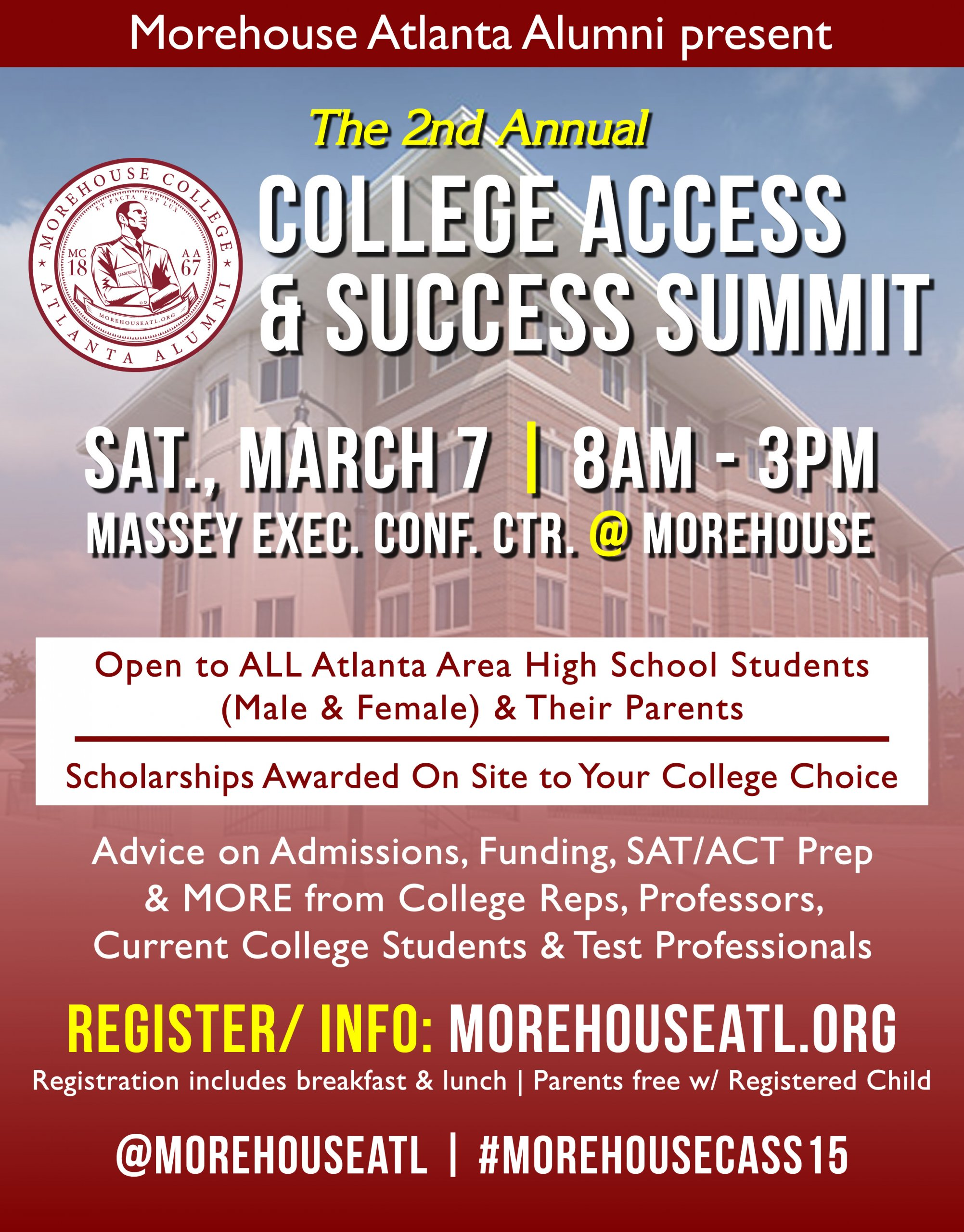REGISTER TODAY: 2015 College Access and Success Summit