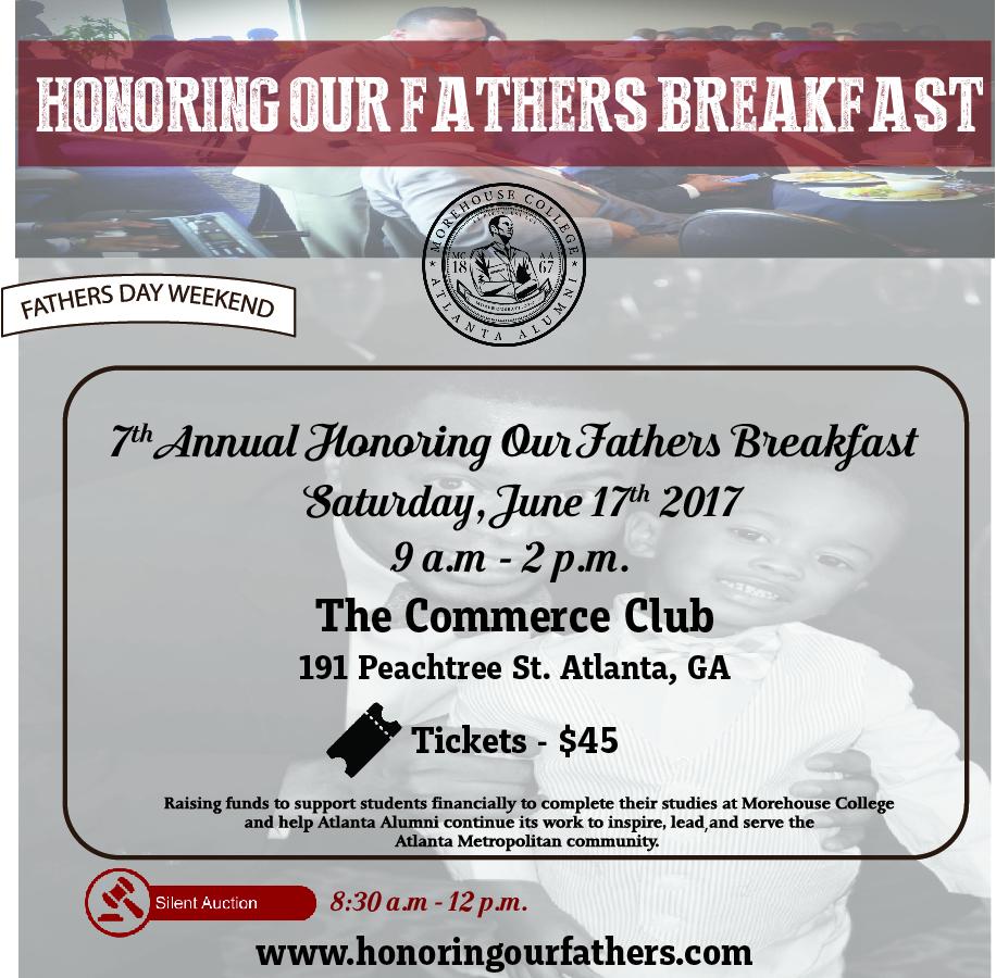 "2017 Morehouse Atlanta Alumni ""Honoring Our Fathers"" flyer"
