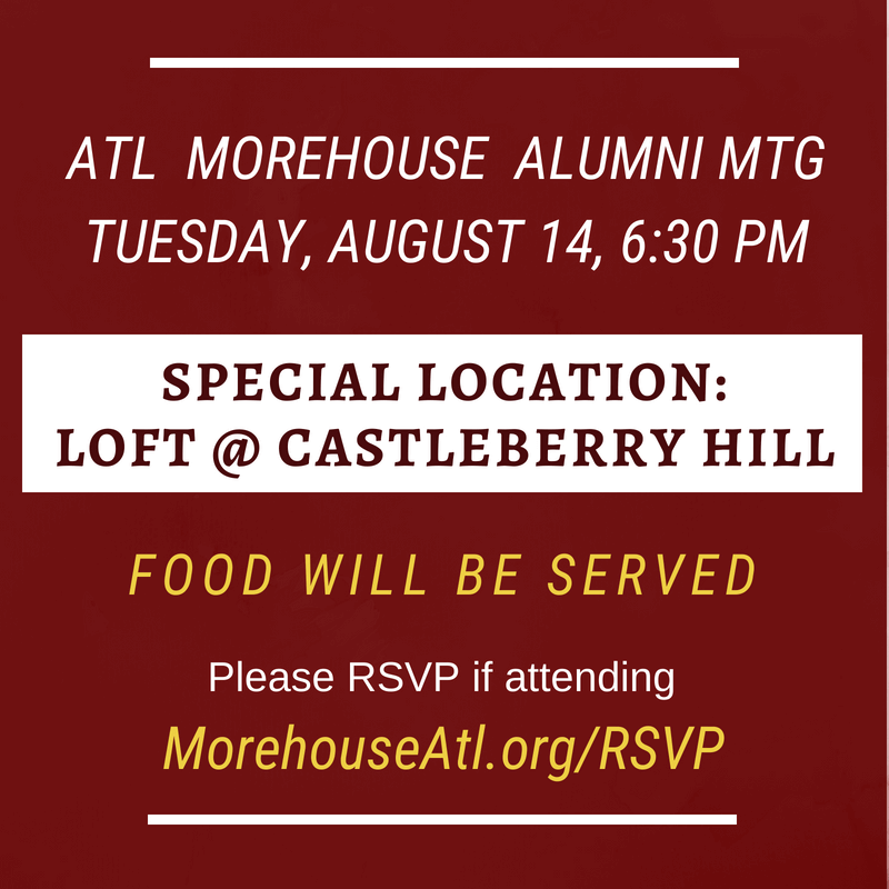 Morehouse Alumni Atlanta Chapter Meeting August 2018