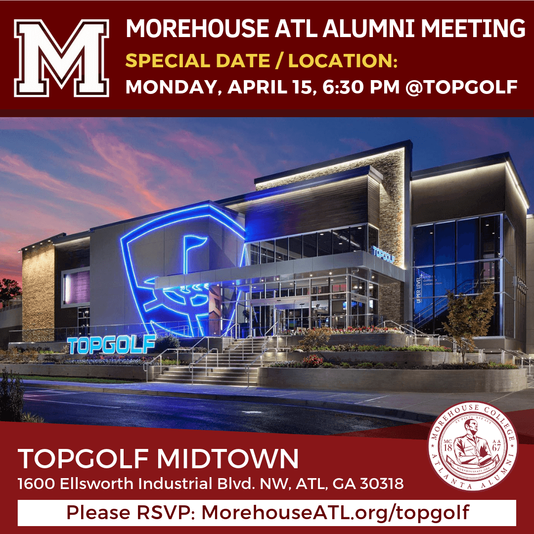 Morehouse ATL Alumni meeting at Topgolf