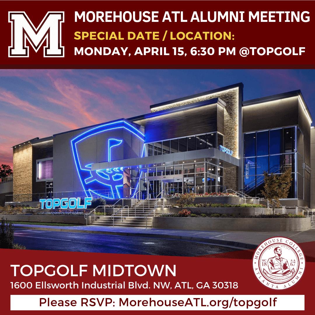Morehouse ATL Alumni meeting at Topgolf