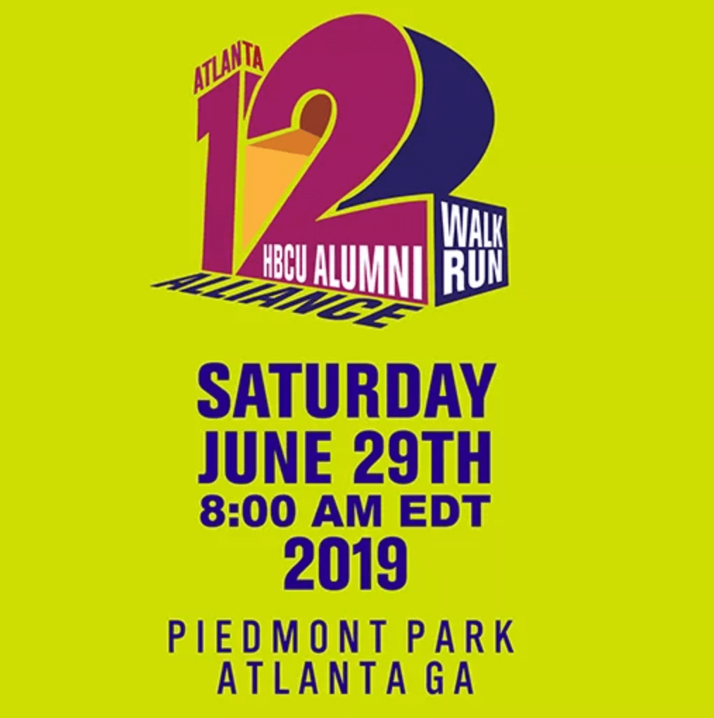 12th Annual HBCU Alumni Atlanta Walk/ Run flyer