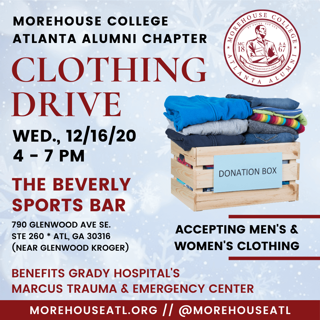 Morehouse Atlanta Alumni Chapter Clothing Drive at The Beverly December 2020