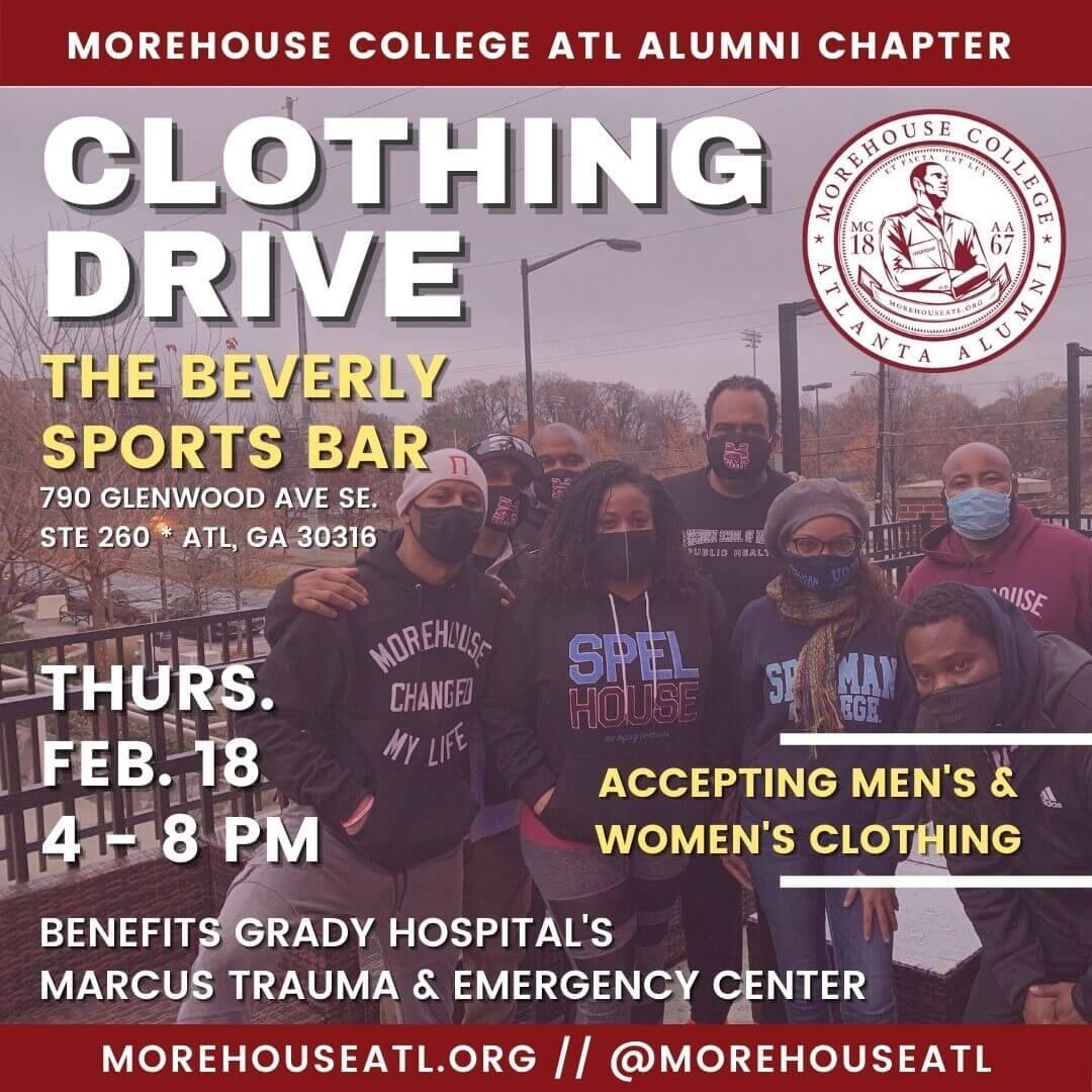 Morehouse Atlanta Alumni Clothing Drive Feb. 18, 2021 at The Beverly Atlanta