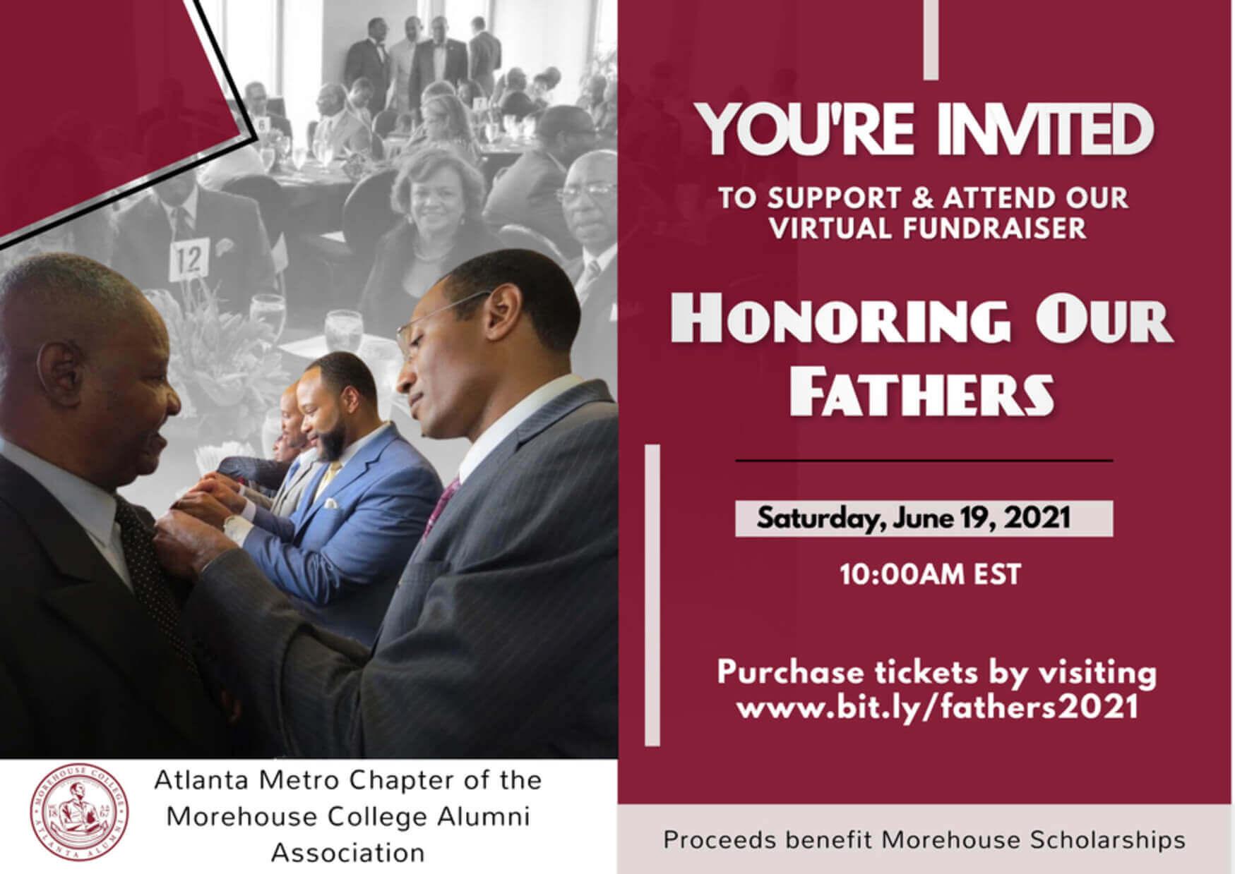 2021 Honoring Our Fathers Awards & Fundraiser Morehouse Atlanta Alumni